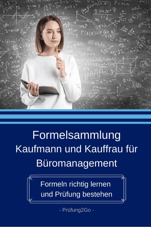 Formelsammlung Kauffrau für Büromanagement
